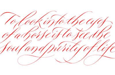 Associazione calligrafica italiana Copperplate variations 2